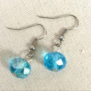 Jewelry - Aqua Bead Drop Earrings